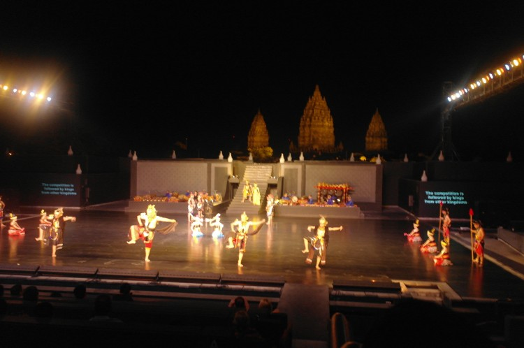 Ramayana-voorstelling bij Pramadantempel